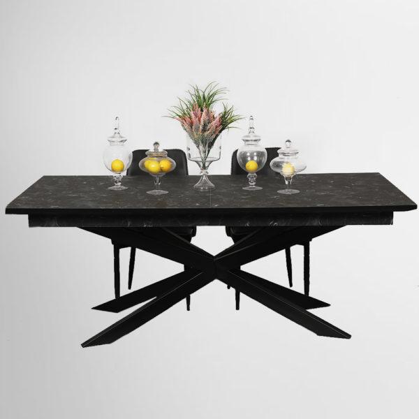 שולחן אוכל דגם עכביש רגלי ברזל כהן רהיטים